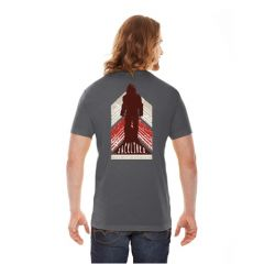 Sasquatch on Back T-Shirt, Asphalt