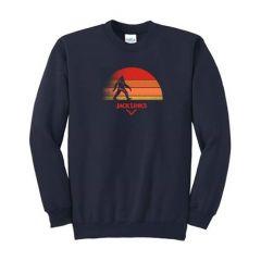 Port & Company Fleece Crewneck Sweatshirt with Sun Design