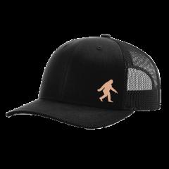 Sasquatch Leather Patch Trucker Hat